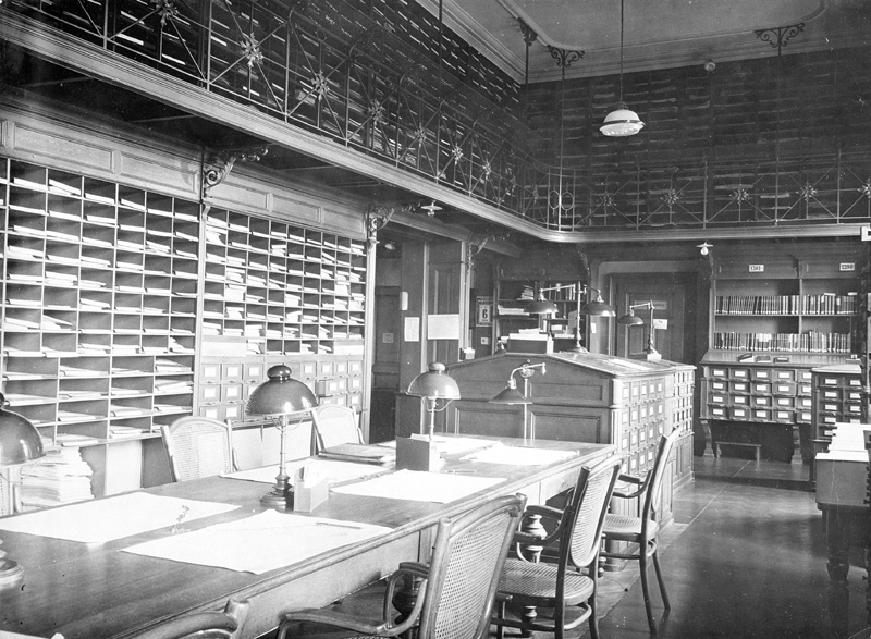 Reading room of the Federal Archives 1925
